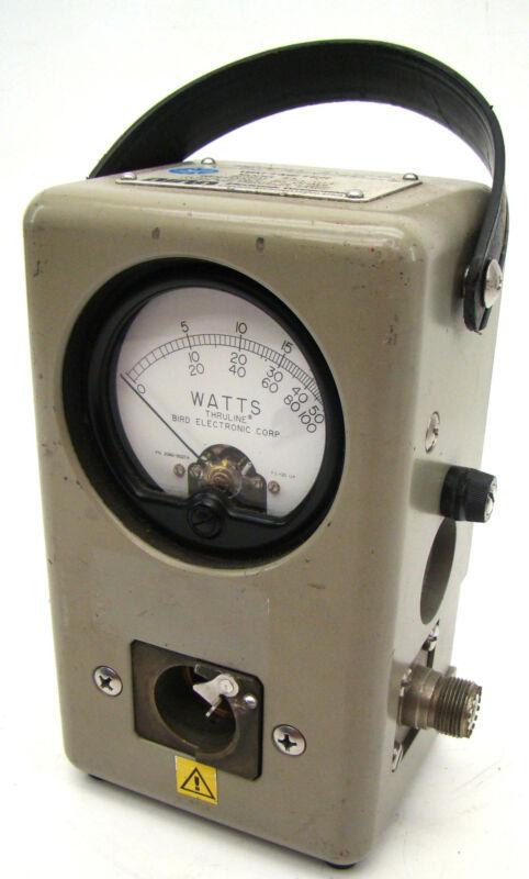 Bird 43 Thruline WattMeter Radio Watt Meter b