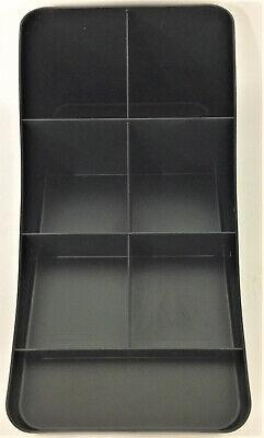 Mind Reader Trove 7 Compartment Coffee Condiment Organizer Black Comp7-blk