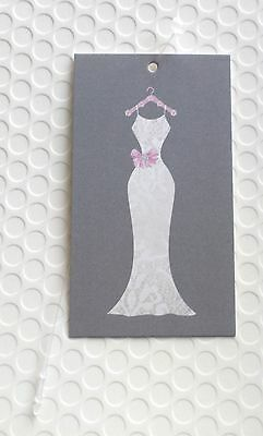 100 Hang Tags Accessories Tags Cute Wedding Dress Clothing Tag 100 Plastic Loops