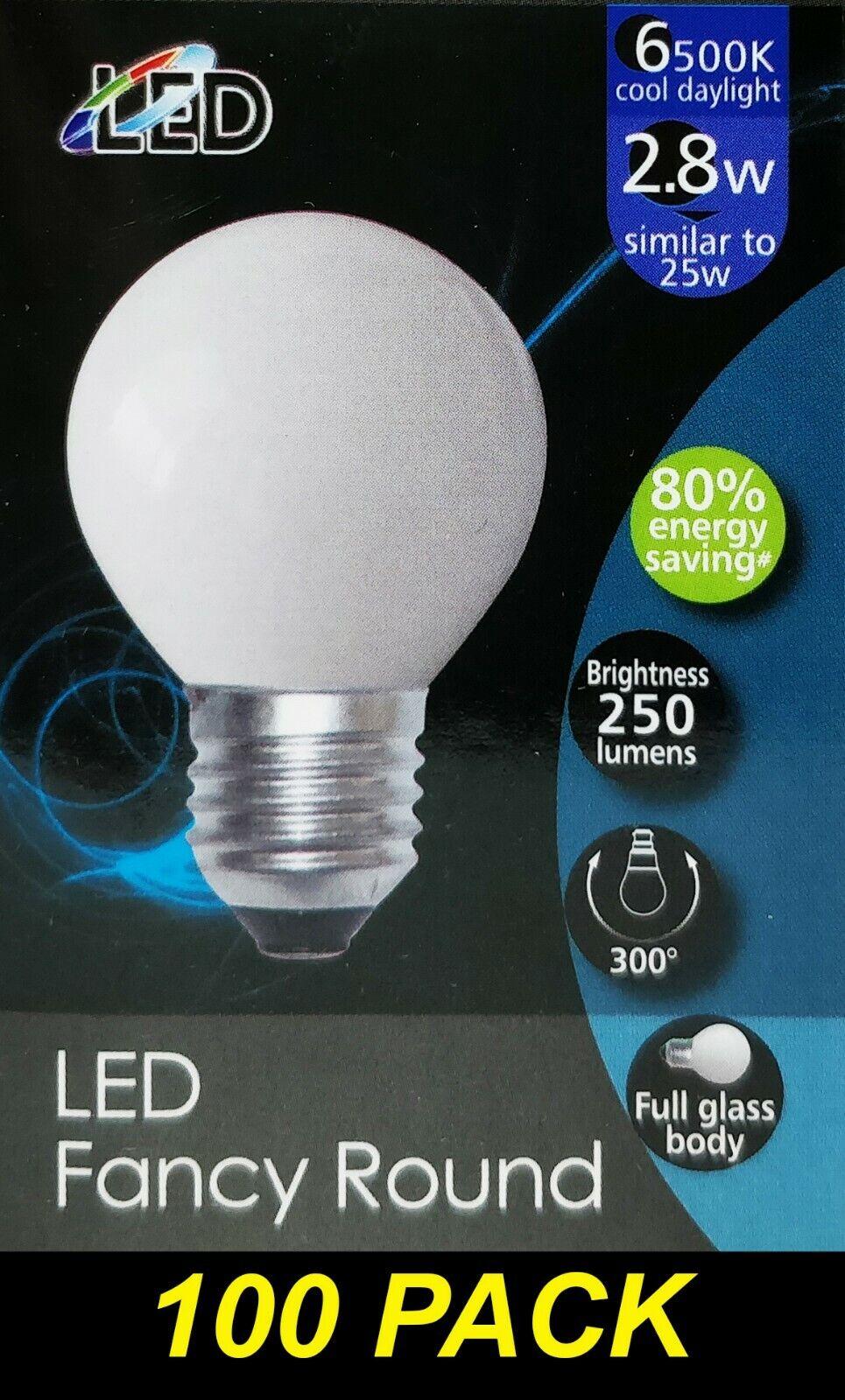 BULK 100 x 3W LED Cool Daylight Globes Bulbs Lamps E27 Screw