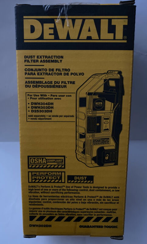DEWALT DWH302DH Heavy Duty Dust Extraction Filter Assembly New