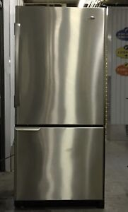 Amana stainless steel fridge in perfect condition- delivery