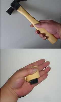The Super Latex Rubber Fake Hammer Trick,Crazy Hammer Magic Tricks Toy  Pip JH