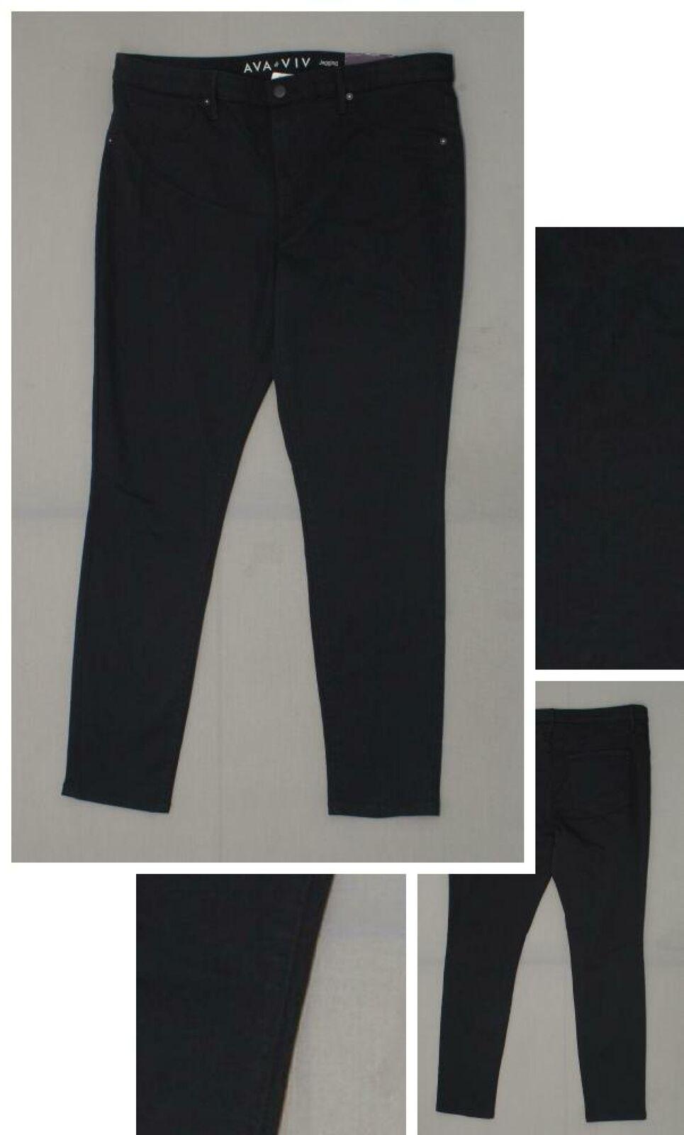 7fd44a7bddc879 NWT Ava & Viv Women's Plus Size Black Super Stretch Denim Jeggings ...