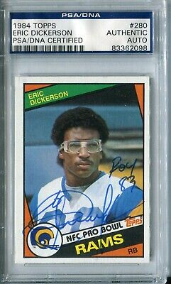 1984 Topps #280 Eric Dickerson PSA 8 NM-MT Los Angeles Rams RC Football Card