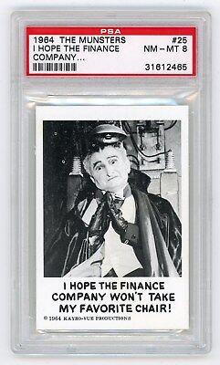 1964 Leaf Munsters Card #25 I Hope The Finance Company... PSA 8 Non-Sports