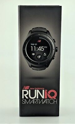 New Balance RunIQ Smartwatch with Classic Buckle Black Excellent Shape In Box