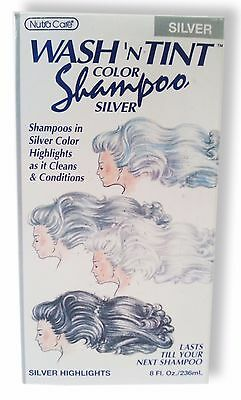 Nutra Care Wash N Tint Temp Highlighting Color Shampoo White Silver Gray New