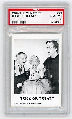 1964 Leaf Munsters Card #29 Trick or Treat? PSA 8 Non-Sports