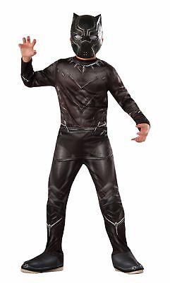 Rubies Marvel Schwarzer Panther Captain America Kind Jungen Halloween (Captain America Kostüm Schwarz)