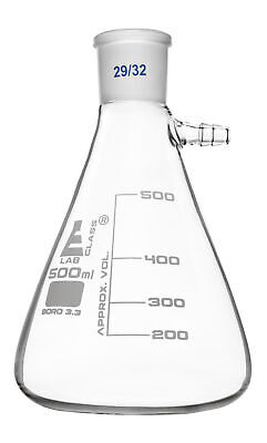 Buchner Filter Flask 500ml - 2932 Joint -borosilicate Glass - Eisco Labs