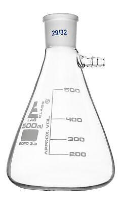 Buchner Filter Flask 500ml - 2932 Joint -borosilicate Glass - Eisco Labs