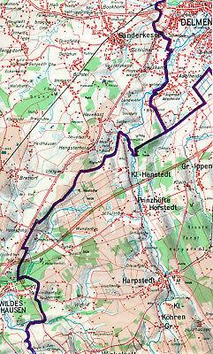 Delmenhorst Wildeshausen Ganderkesee 1962 orig Teilkarte Harpstedt Autobahn proj