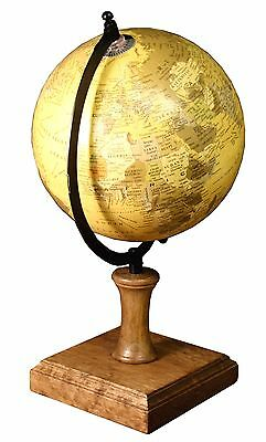 Antique Vintage Style Large Spinning Globe on Wooden Base World Map,Decorative