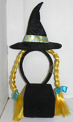 Estate: Witch Hat Head Band with Braided Pig Tails Halloween Costume LOOK ](Halloween Costumes With Pigtails)