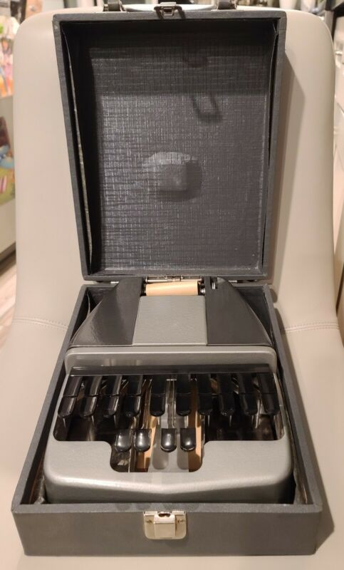 Vintage LaSalle Stenotype Shorthand Machine Stenographer Court Reporter