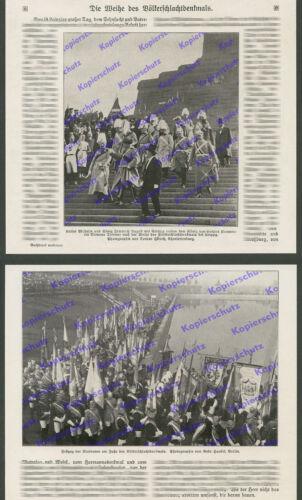Einweihung Völkerschlachtdenkmal Wilhelm II. Studenten Turner Leipzig Fahne 1913