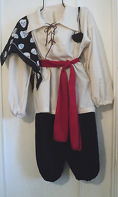 BOY'S RENAISSANCE PIRATE OUTFIT, SCA ,LARP,  PIRATE, COSPLAY  SIZE 6-8
