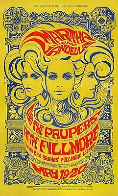 MINT Martha & The Vandellas 1967 BG 64 Psychedelic Fillmore Poster