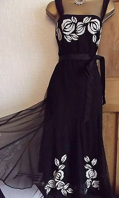WALLIS ❤️  Vintage 1920's Art Deco Beaded Flapper  Gatsby Downton Dress 10