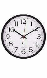 Large Decorative Wall Clock Black, White Dial Utopia Home