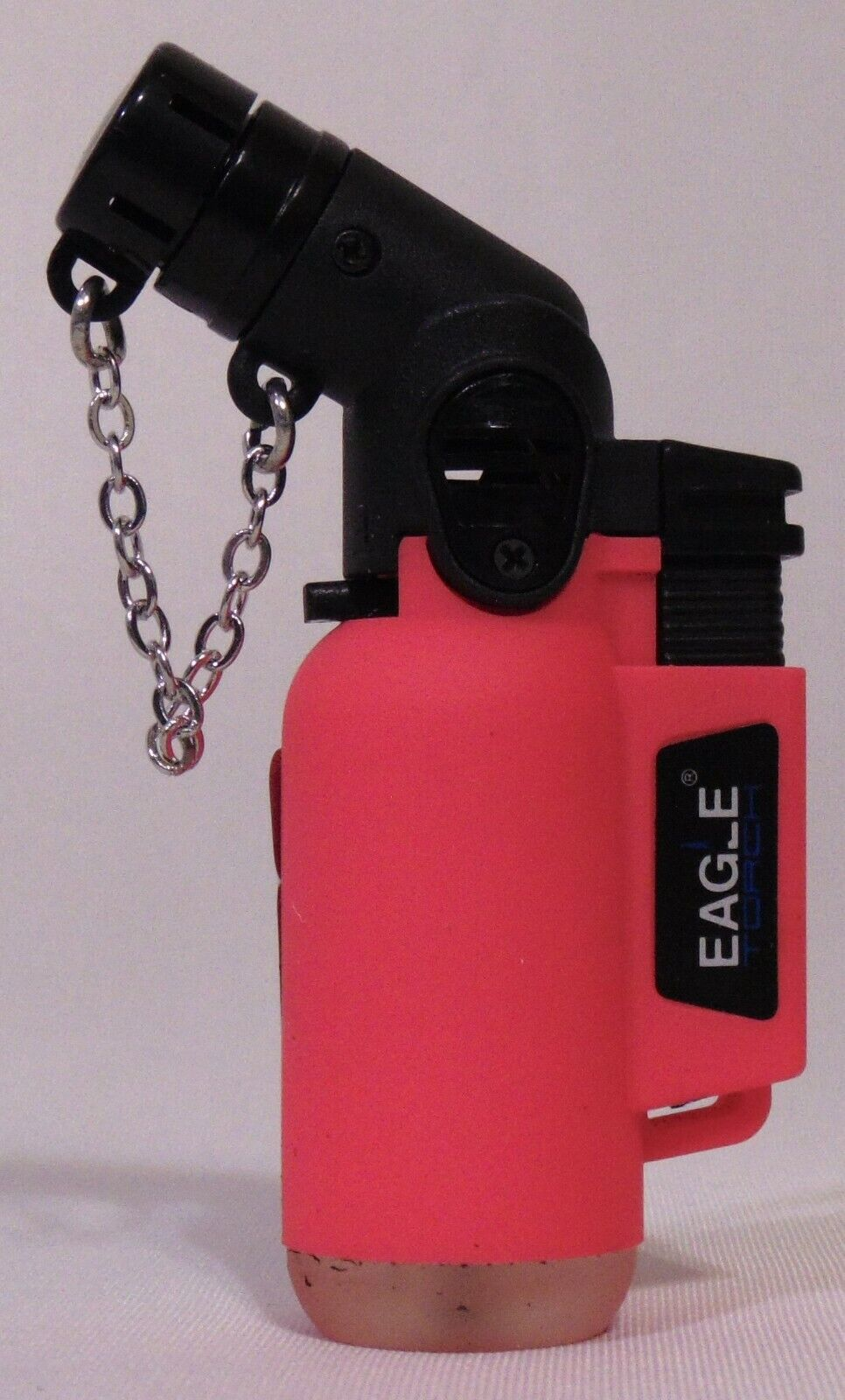Eagle Torch Butane Lighter Neon Pink w Safety Cap Stop Limit