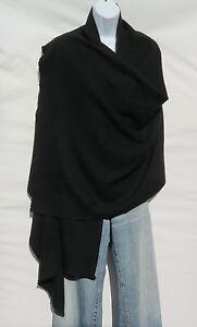 100% Cashmere|Shawl/Wrap|4 Ply|Hand Loomed|Nepal|Mini Herringbone|Black