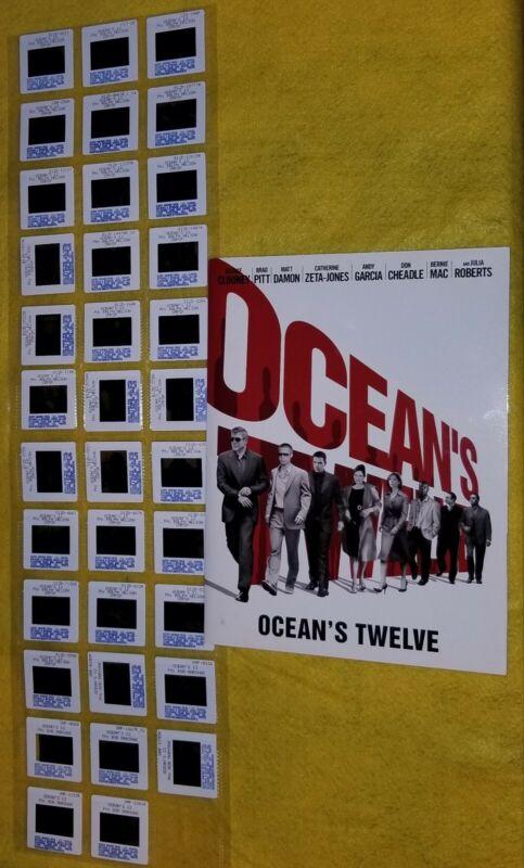 OCEANS TWELVE original 2004 press kit 35 slides BRAD PITT JULIA ROBERTS CLOONEY