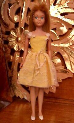 Vintage Barbie: #4 1963 SKIPPER in FLOWER GIRL Dress 1964 #1904, Hong Kong Shoes - Vintage Flower Girl Shoes
