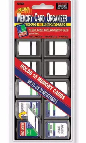 Pioneer 10 Compartment Memory Card Organizer