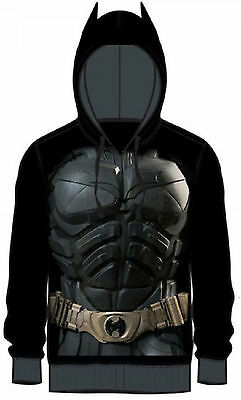 Dark Knight Batman Adult Black Costume Hoody Hoodie - DC Comics Superheros](Dark Knight Hoodie)