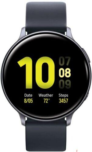 New Samsung Galaxy Watch Active 2 44mm LTE SS Case SM-R825 Black Unlocked