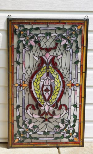"20.5"" x 34.75"" Stunning Decorative Handcrafted stained glass panel"