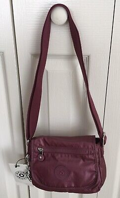 Genuine Kipling Sabian U Shoulder/Crossbody Mini Bag In Fig Purple Metallic