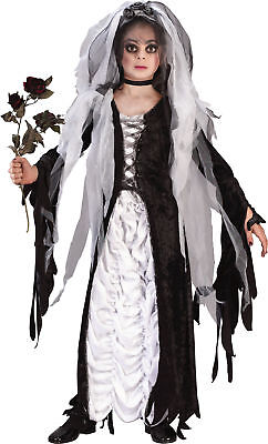 Halloween Costumes Bride Of Darkness (Bride Of Darkness Ch Child Costume Velvet Lace Halloween Fancy Dress)