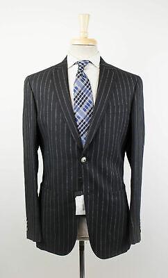 New LAB PAL ZILERI Black Striped Linen Blend 2 Button Sport Coat 50/40 R $650