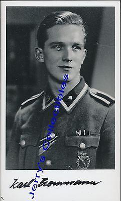 Karl Brommann signed photo. 103 SS Heavy Panzer Btl. Nice !