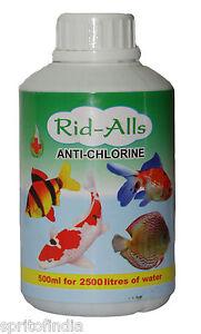 Aquarium Fish Rid Alls Anti Chlorine 500 Ml Medicine