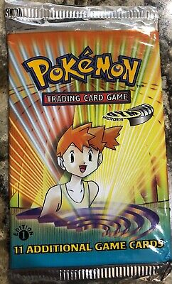 Wizards of the Coast Pokemon Gym Heroes 1st Edition Booster Pack Misty artwork