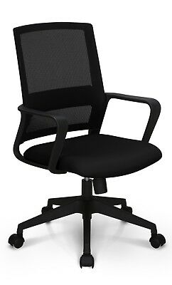 Office Chair Conference Room Chair Desk Computer Mesh Chair Study Mesh Black