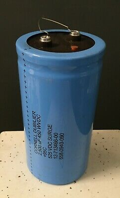 AERO M TYPE CGS 2200MFD CAPACITOR  450VDC//MAX SURGE 525VDC **XLNT**