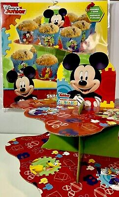 Disney MICKEY MOUSE CLUBHOUSE Cupcake Snack Stand, 2 Tier, Birthday Party Supply