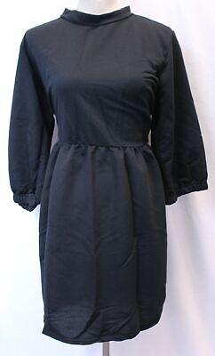 Boohoo Women's Plus Loop Back Sweat Smock Dress CD4 Black Size US:16 UK:20 NWT