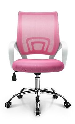 Ergonomic Mesh Swivel Desk Home Office Computer Chair With Lumbar Support Pink