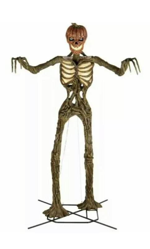12 ft Giant Sized Pumpkin Inferno Skeleton Home Depot New Tic Tok