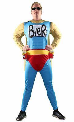 Beerman Biermann Superheld Herren Kostüm Männer Gr. - Mann Superhelden Kostüm