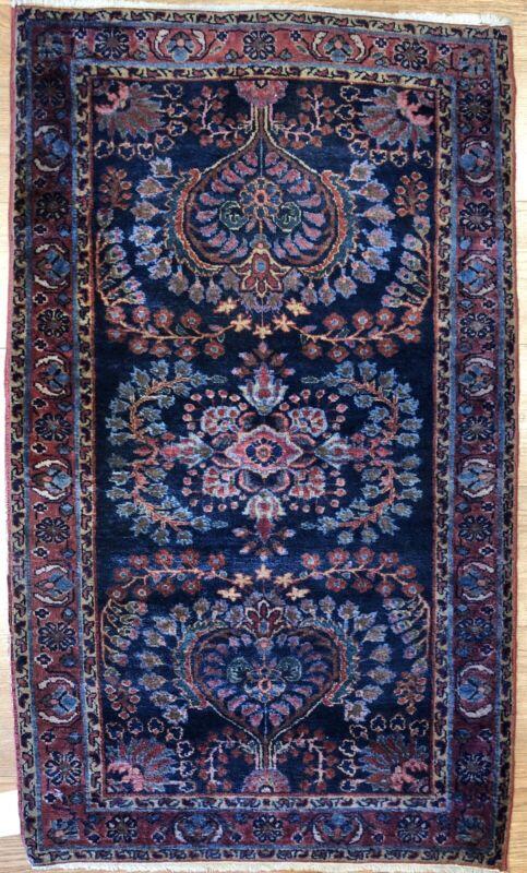 Lovely Lilihan - 1920s American Sarouk Rug - Persian Carpet - 2.3 X 3.10 Ft.