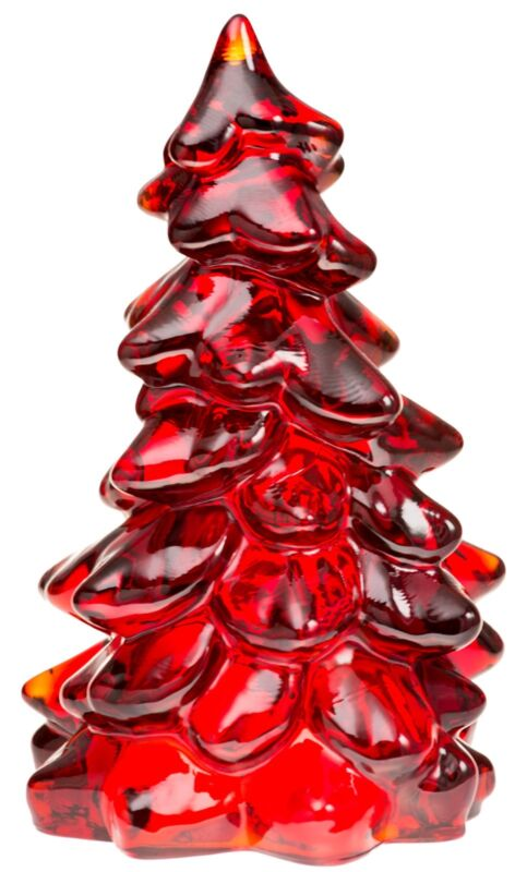 Christmas Holiday Tree - Red Glass - Mosser USA - Large 8""