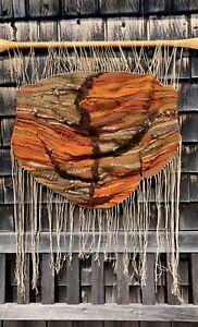 Vintage 1970's-era hand-woven wool wall hanging $200 OBO