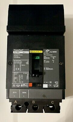 Newunused Surplus Square D Hja36020 3p 20a I-line Circuit Breaker Ships Today
